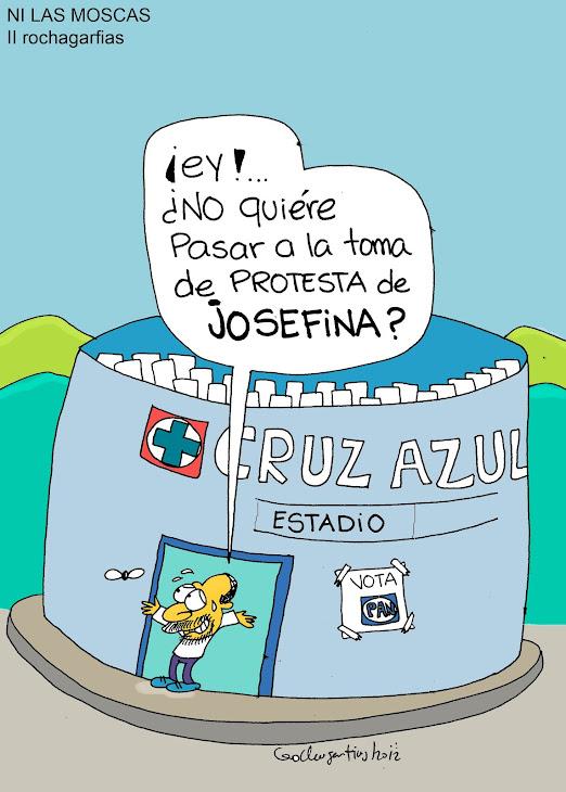 "Josefina Vàsquez Mota hizo una toma de protesta al ""alto vacio""."