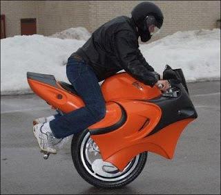 Moto com uma roda