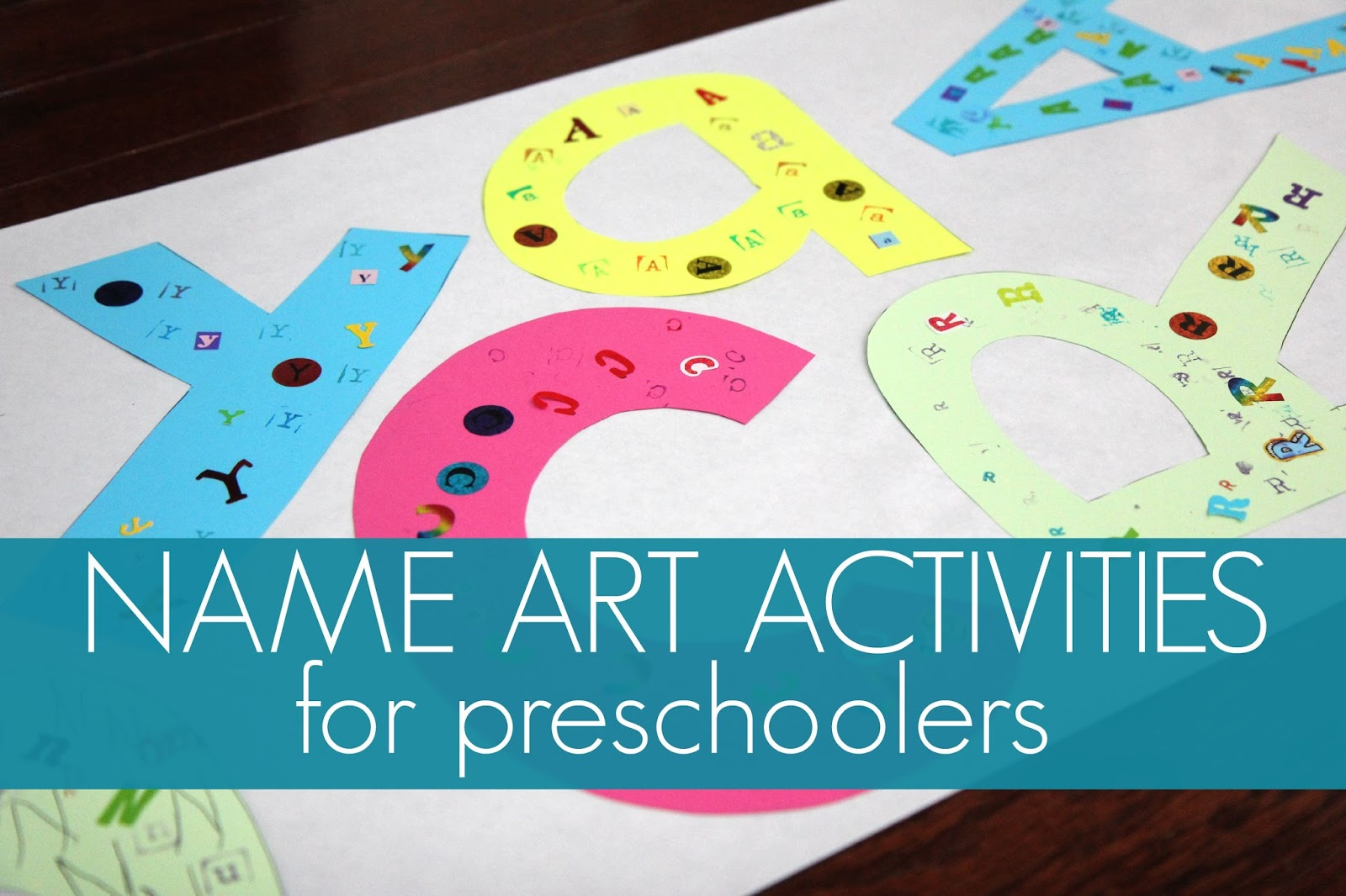 Today We Are Kicking Off Our Third Annual Back To School Basics Series By Sharing A Simple Name Art Activity And Game Using Stickers Stamps