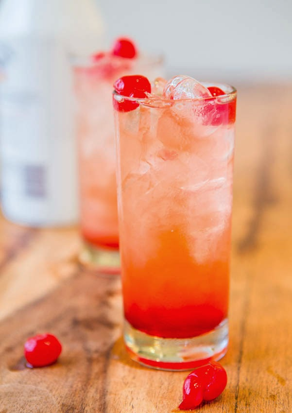After you make your grenadine you can use it to make this Malibu ...