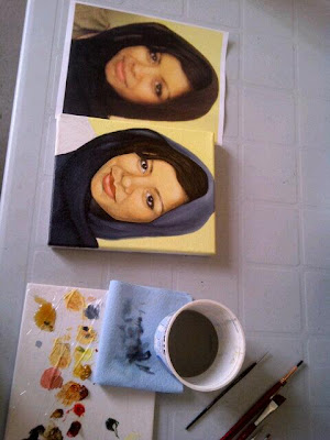 art progress pictures, progress photos, art coming to life, beauty art, portrait painting process