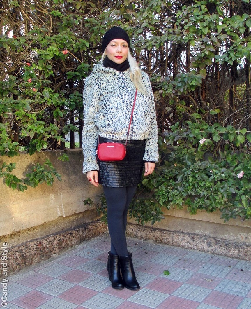 Faux Fur - Leopard Print - Mini