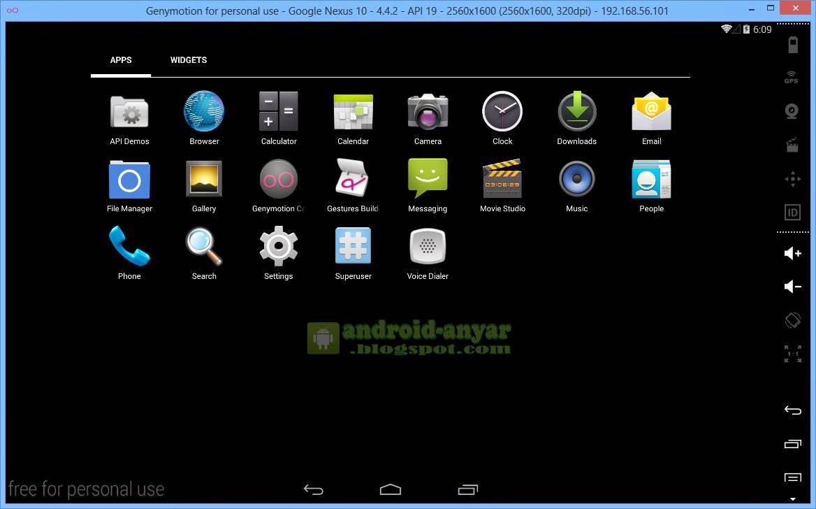 Menu Android KitKat PC