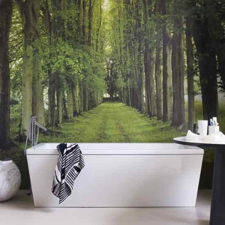 Paredes de papel for Bathroom mural wallpaper