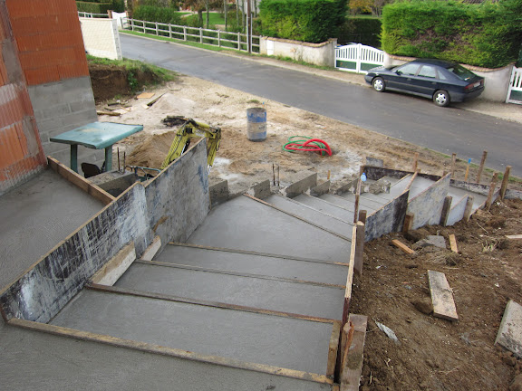 Ballylough construction for Construction escalier exterieur beton