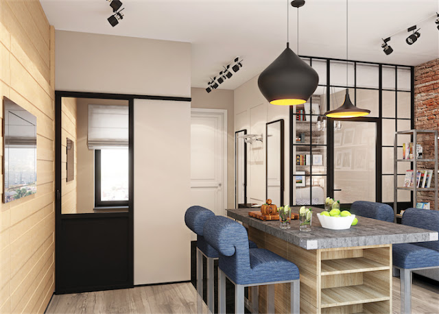 decoracao quarto kitnet:Decoracao Quarto: PEQUENO APARTAMENTO ou KITNET: um projeto de 30 m2