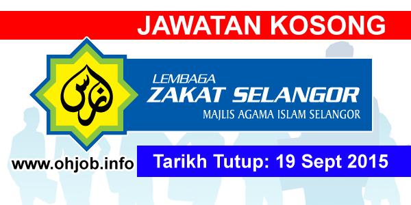 Jawatan Kerja Kosong Lembaga Zakat Selangor (LZS) logo www.ohjob.info september 2015