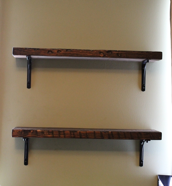 Boxy Colonial: DIYAS 15/15 Project: Reclaimed Wood Shelves