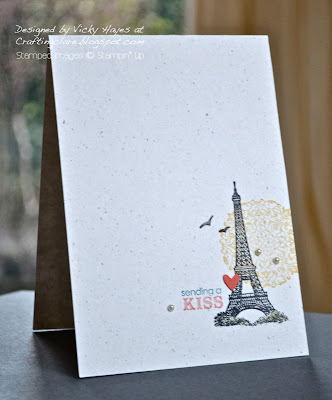 One layer card using Artistic Etchings by Stampin' Up