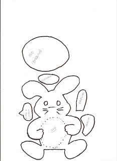 cestinha de páscoa de coelhinhos