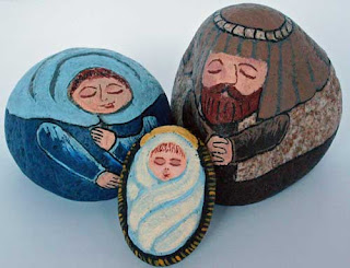 painted rocks, nativity sets, unique, rock painting, Cindy Thomas