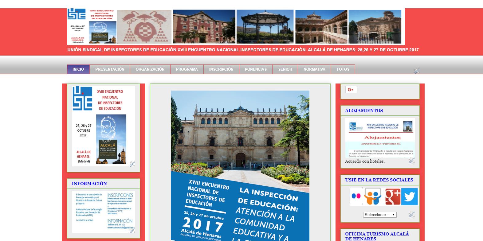 VIII ENCUENTRO NACIONAL INSPECTORES ALCALÁ DE HENARES