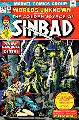 Marvel Comics, Worlds Unknown #8, Golden Voyage of Sinbad