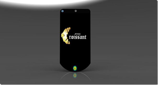 Crescent Zuess smartphone with a futuristic shape