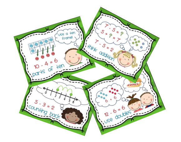 Addition and subtraction sorting cards are included the sorting cards