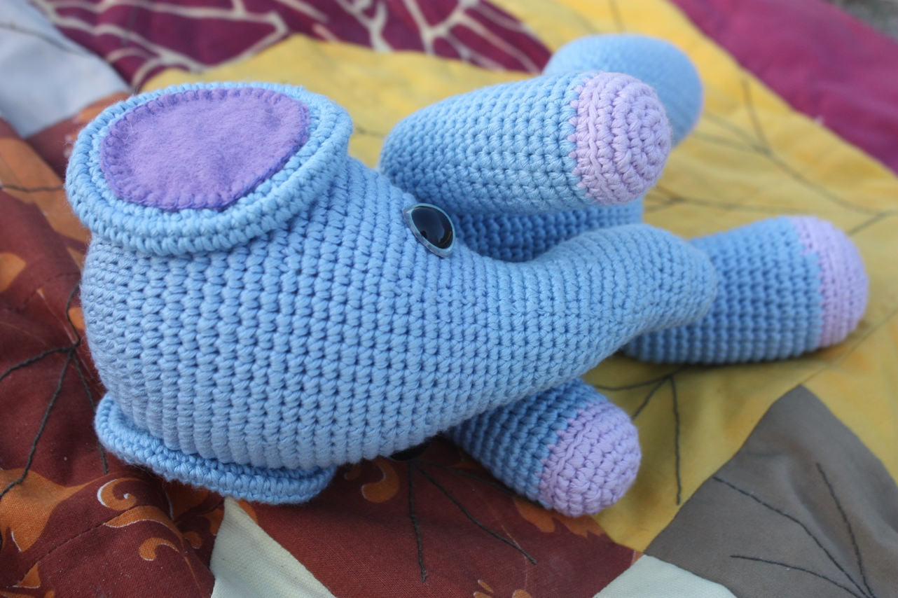 Crochet Patterns Elephant : Amigurumi creations by Happyamigurumi: Amigurumi Elephant Pattern