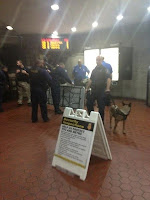 TSA Inspections With K-9's At DC Metro Stations