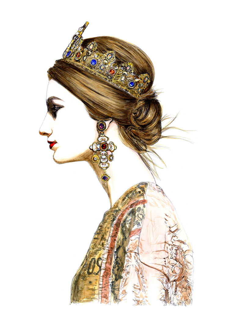 Illustration by Lidia Luna: Dolce & Gabbana FW13