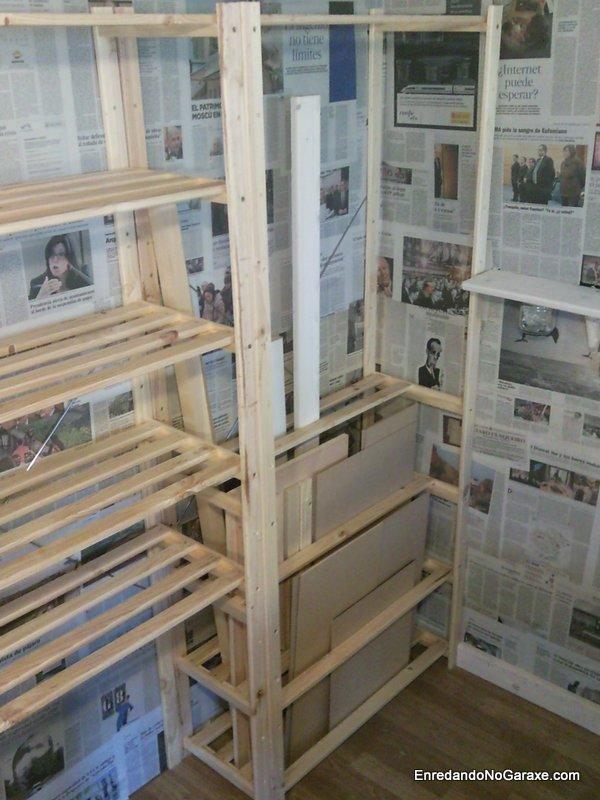 Estantería para almacenar madera, Enredandonogaraxe.com