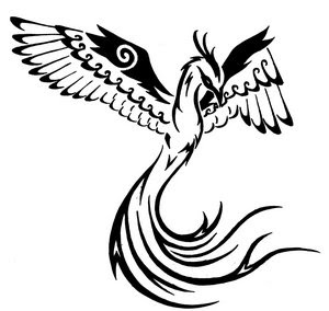 Tribal Phoenix Bird Tattoo Designs