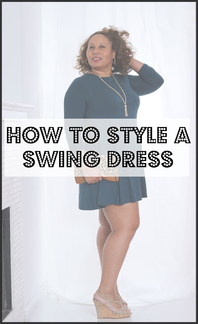 How to Style a Swing Dress | Curvy Outfit Ideas | Petite Outfit Ideas | Plus Size Fashion | Fall Fashion | OOTD | Professional Casual Chic Fashion and Style Inspiration