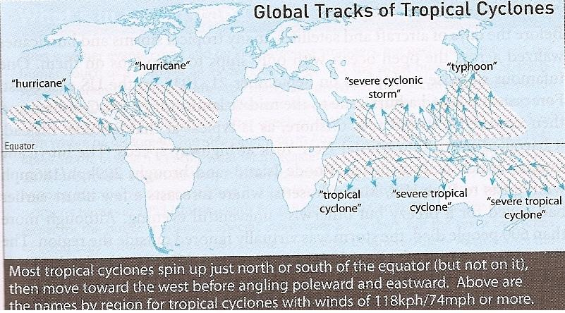 an analysis of the hurricanes cyclones and typhoons in the tropical areas Nasa the practice of naming storms has a long history before the 20th century, notable tropical cyclones (also called typhoons or hurricanes, depending on geography) were generally identified by the time when they occurred or the location where they struck.