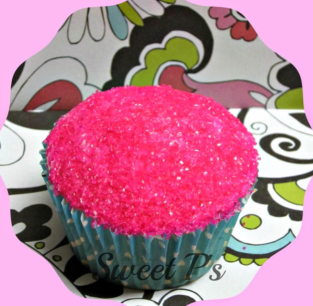 sanding sugar cupcake