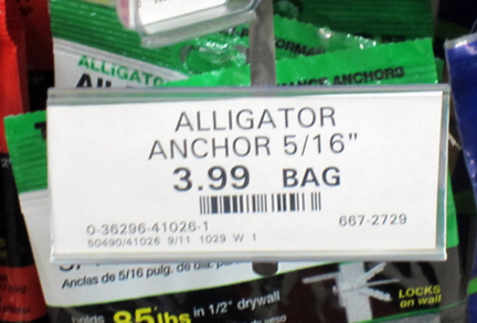 Alligator anchors