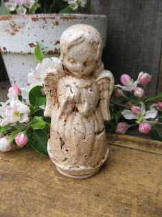 little papier mache angel that I painted
