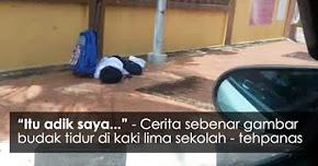 "Thumbnail image for ""Itu Adik Saya"" – Cerita Sebenar Gambar Budak Tidur Di Kaki Lima Sekolah"
