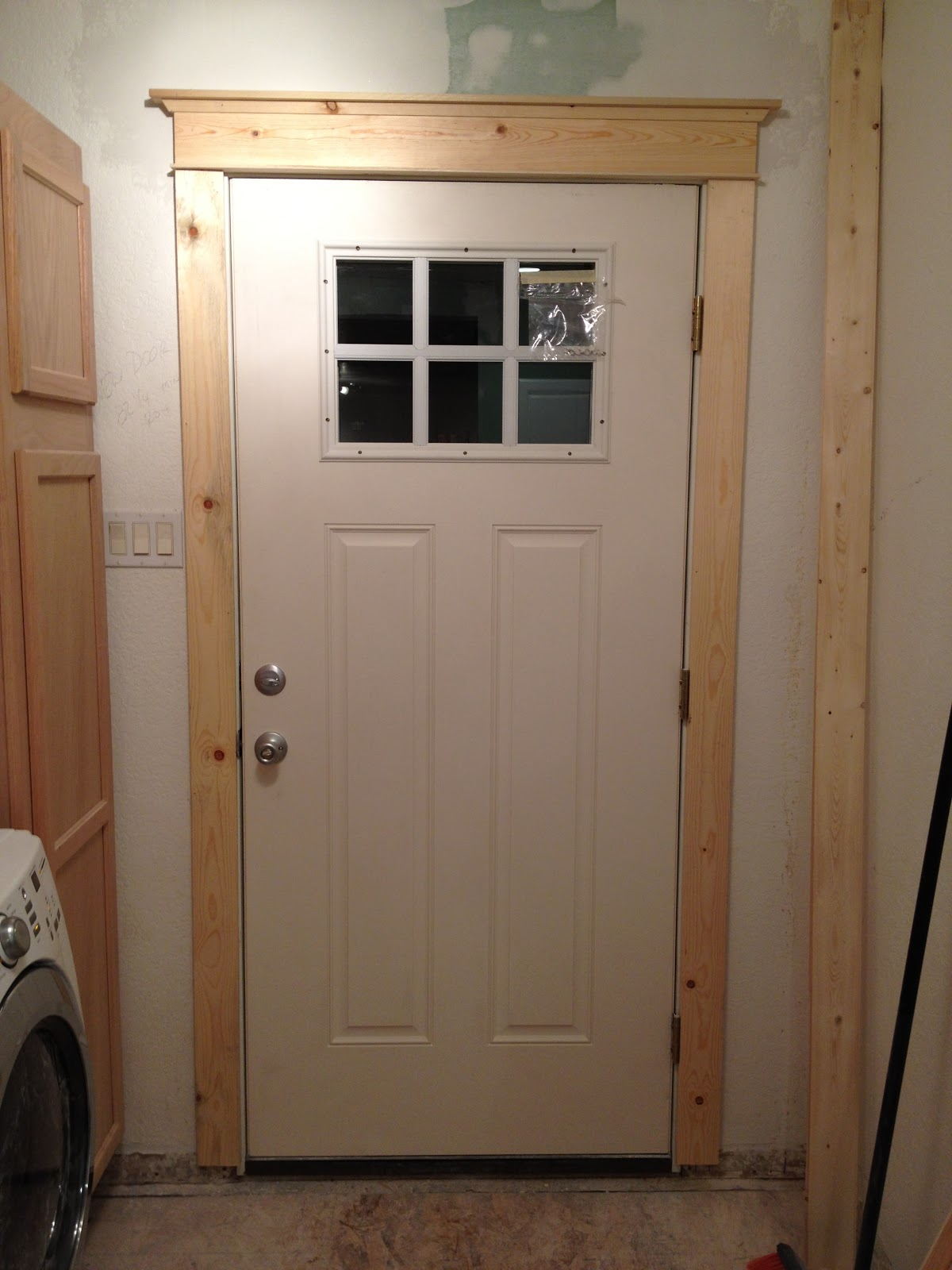 The house is going to be great laundry beginnings for Door frame color ideas