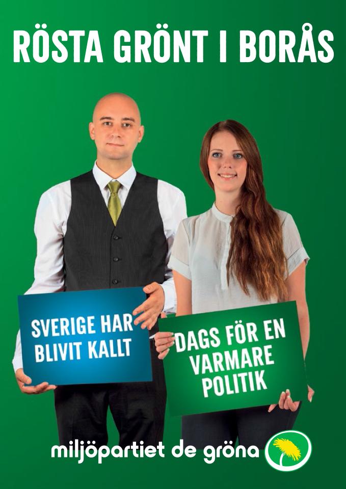 Rösta grönt i Borås för en politik för att bo och leva i en hållbar stad