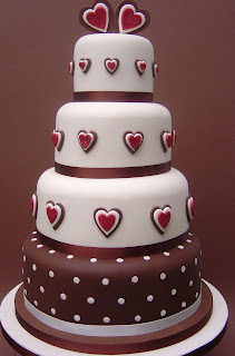 Chocolate love wedding cake