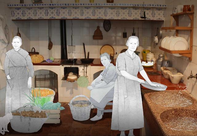 cocina, tradicional, Torrente. dibujo, foto