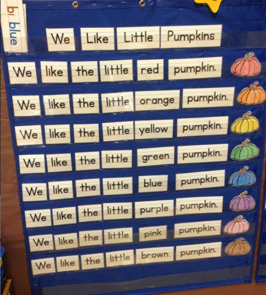 Kindergarten Calendar Pocket Chart : Scoops of kindergarten pumpkin pocket chart fun