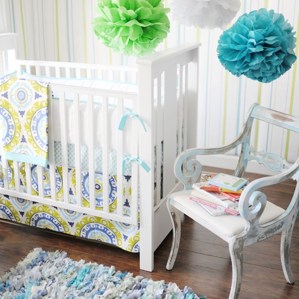 Life In Color Diy No Sew Crib Skirt