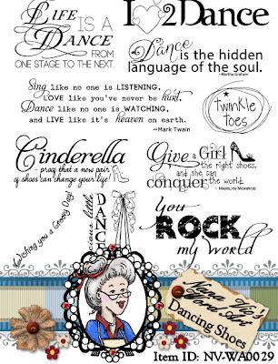 Dancing Shoes Word Art