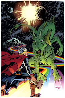 BEHOLD THE MAJESTY OF FIN FANG FOOM, a dragon that (usually) wears purple underpants!