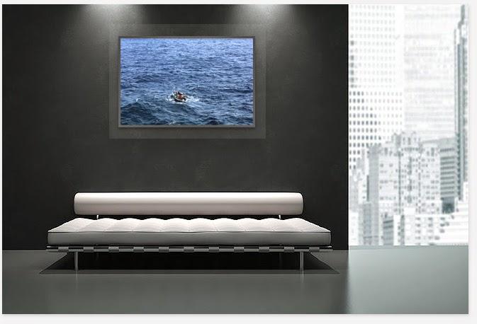 Interior decor with picture,boat