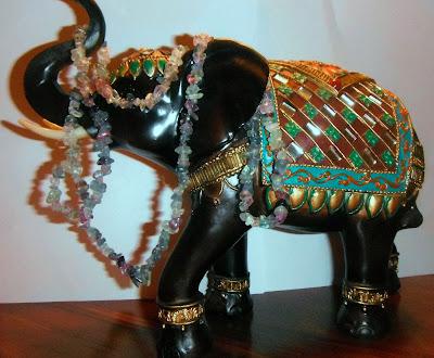 fluorite chips elephant india
