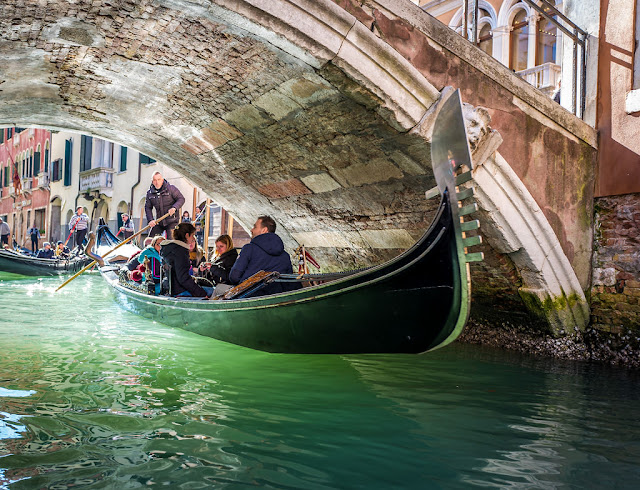 Gondola Ride during Venice Carnival