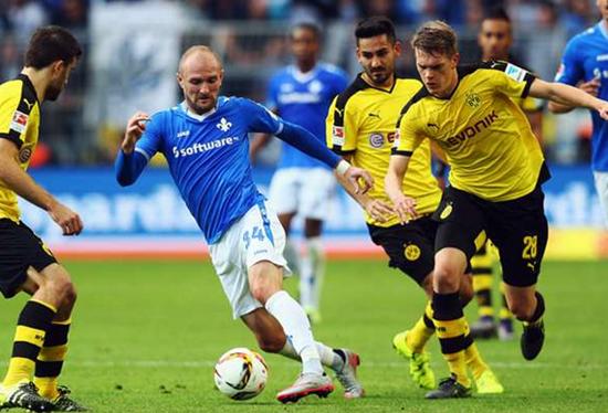 Borussia Dortmund 2 x 2 Darmstadt - Campeonato Alemão(Bundesliga) 2015/16