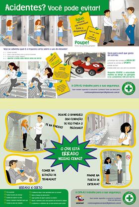 Ilustrações e diagramação de papel-bandeja para refeitório. Cliente: GLOBOSAT