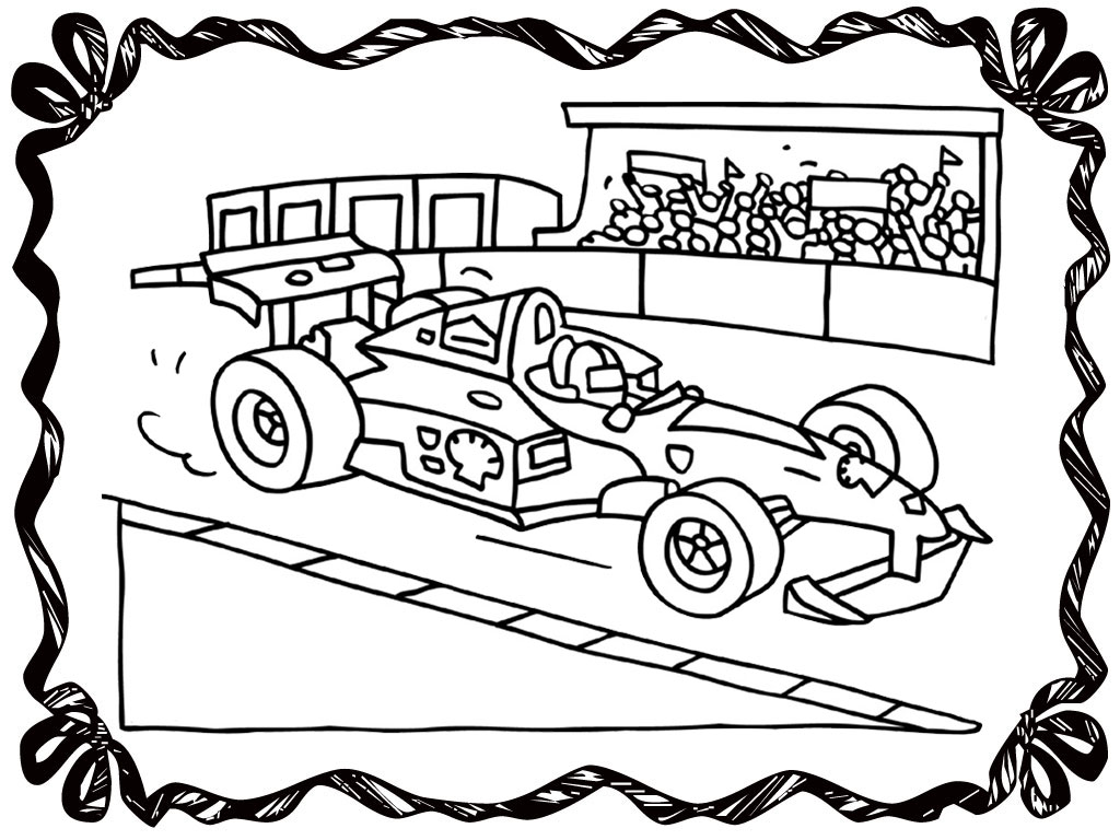 racing track coloring pages - photo#17