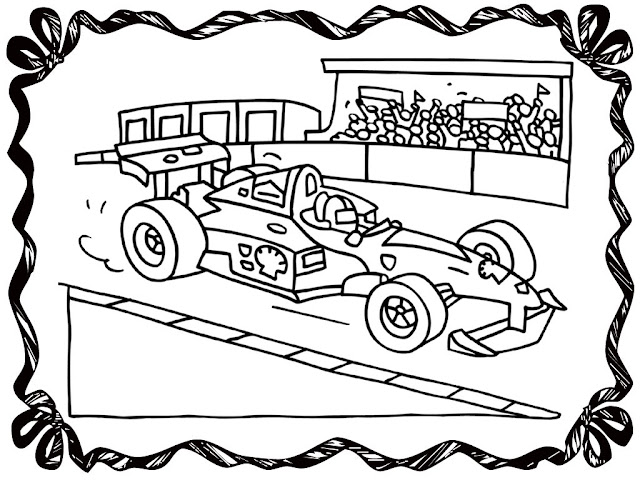 race car track coloring pages