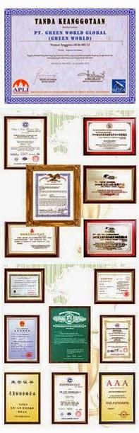 Terdaftar Sebagai Anggota APLI & Sertifikat Piagam Internasional