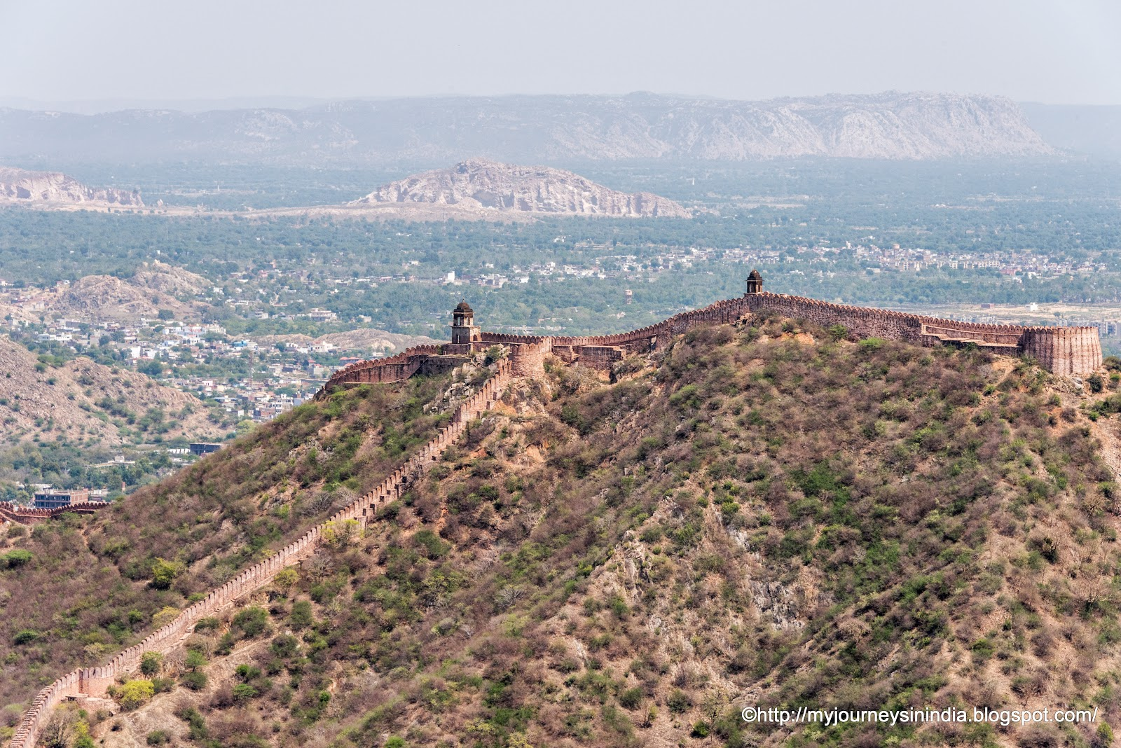 Battlement Opposite to Amer Fort Jaipur