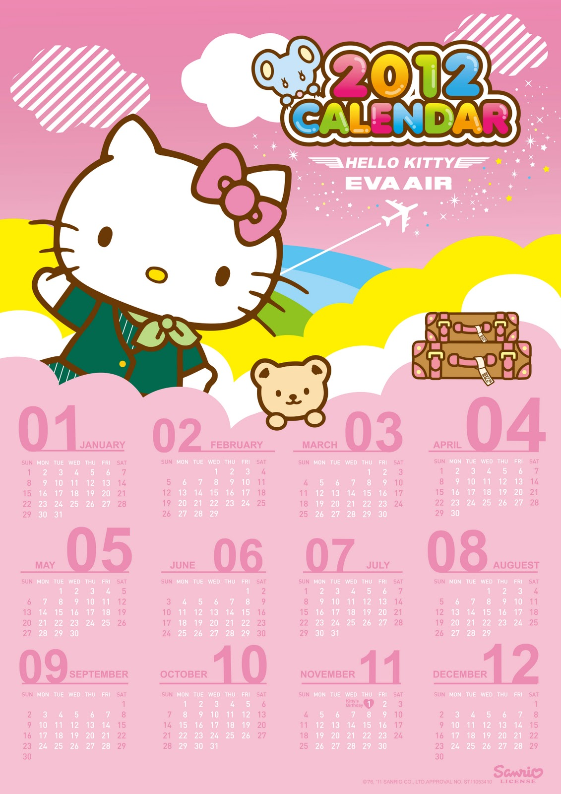 Beautiful Wallpaper Hello Kitty Cupcake - hello-kitty-2012-calendar-eva-airways  Graphic_49176.jpg