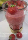 Pomegranate and Strawberry Smoothie, Moroccan Style!