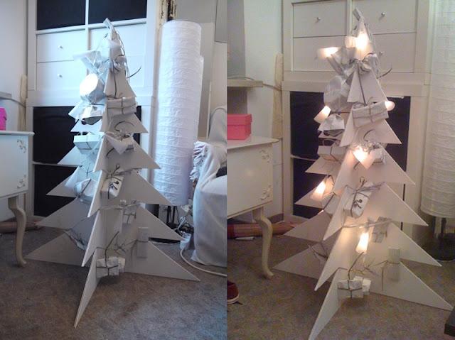 lila glitzereicheln und weihnachtsbaum adventskalender diy. Black Bedroom Furniture Sets. Home Design Ideas